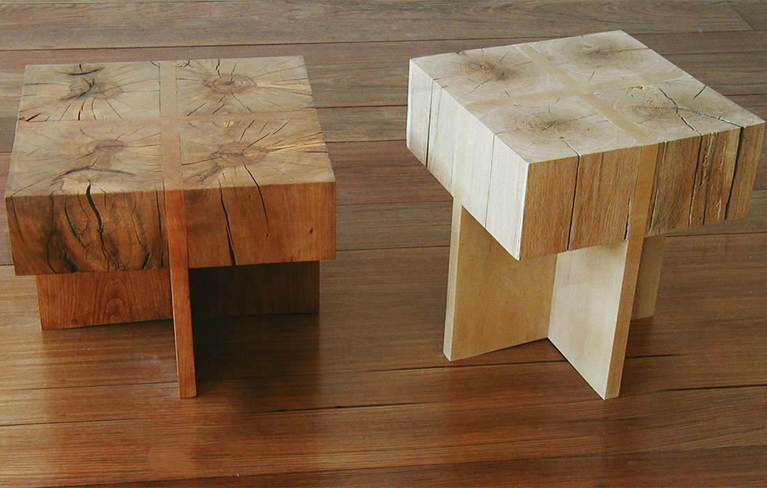Endgrain Cross Stool