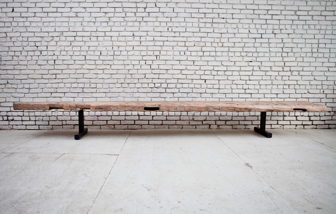 Hand Hewn Revival Bench