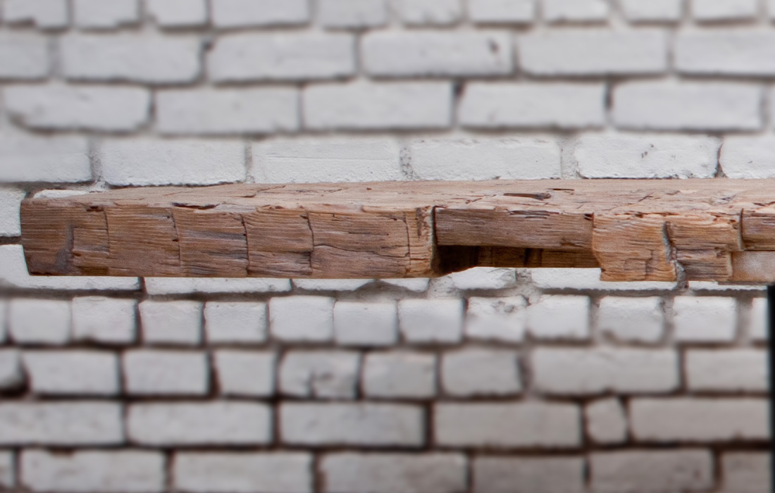 Hand Hewn Revival Bench Detail