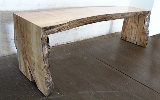 Spalted Maple Bench